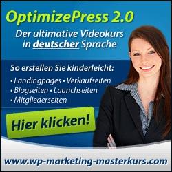 Videokurs OptimizePress 2.0 - Deutsch